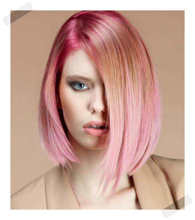 blorange pink blonde rose gold dip dye