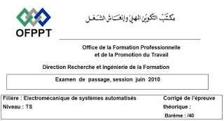 ESA examen de passage 2010 corrigé