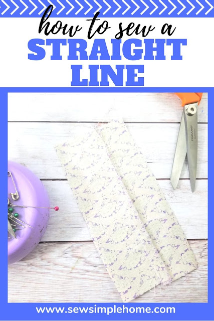 Learn how to sew a straight line on your sewing machine for simple sewing projects.