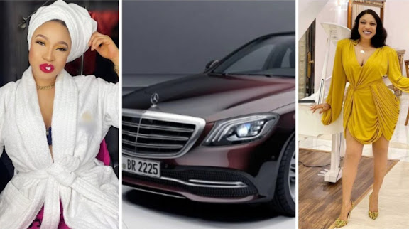 """""""Keep Silent & Work Hard"""" - Tonto Dikeh Says As She Adds A Maybach Worth About 70 Million Naira To Her Fleets of Cars"""