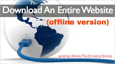Download website for offline
