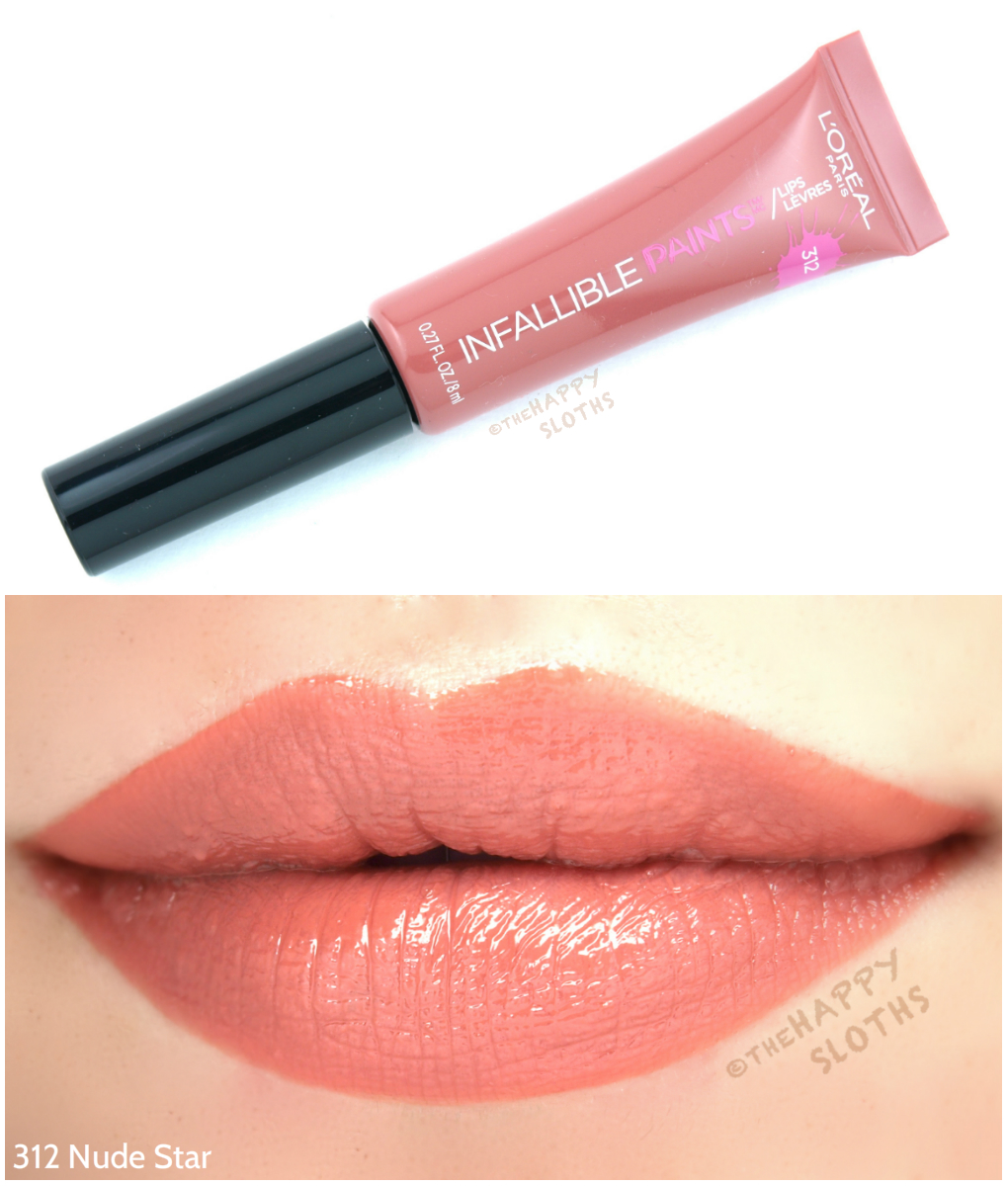 L'Oreal Infallible Lip Paints 312 Nude Star