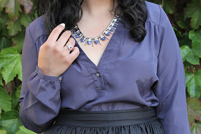 French Connection Spiked Necklace and BCBG Generation Top LE TOTE