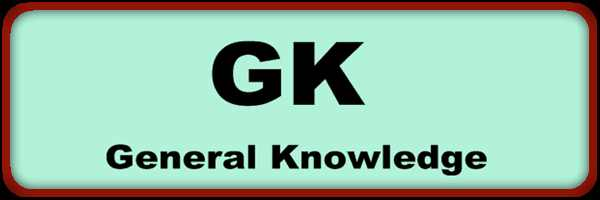 General Knowledge (GK) 10 Question Answer for JK Police, BSF & CISF Written Exam 2020