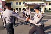 Asah Kemampuan Personel, Sat Samapta Polres Pandeglang Laksanakan Latihan Bela Diri