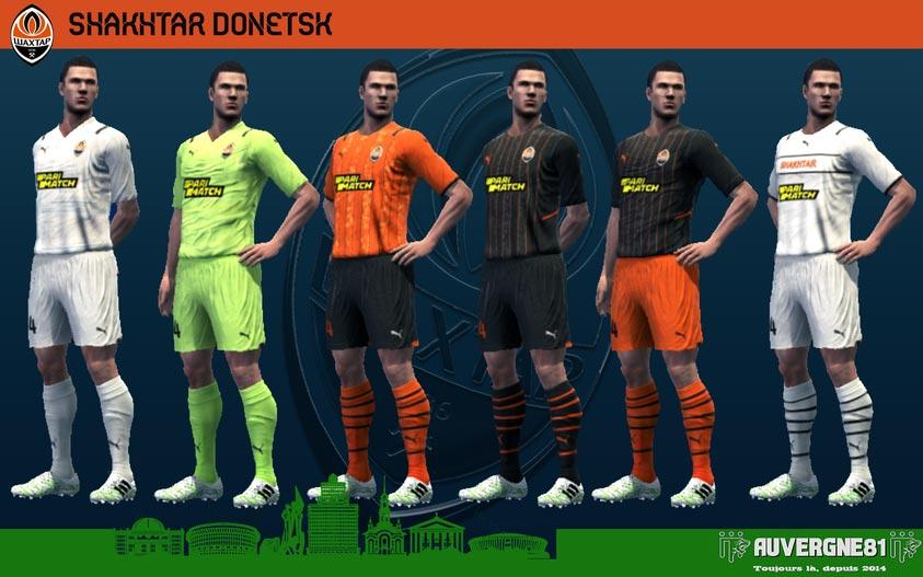 Kits Shakhtar Donetsk 2021-2022 For PES 2013
