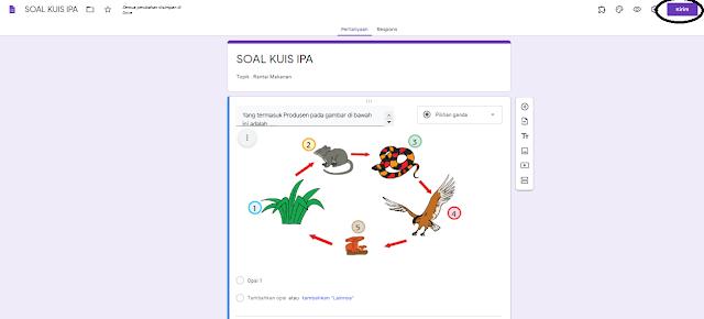 Halaman Soal Google Formulir