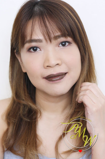 a photo of NIkki Tiu Askmewhats wearing Cathy Doll Nude Me Liquid Lip Matte True Brown