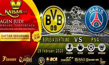 PREDIKSI BOLA TERPERCAYA BORUSIA DORTMUND VS PSG 19 FEBRUARI 2020