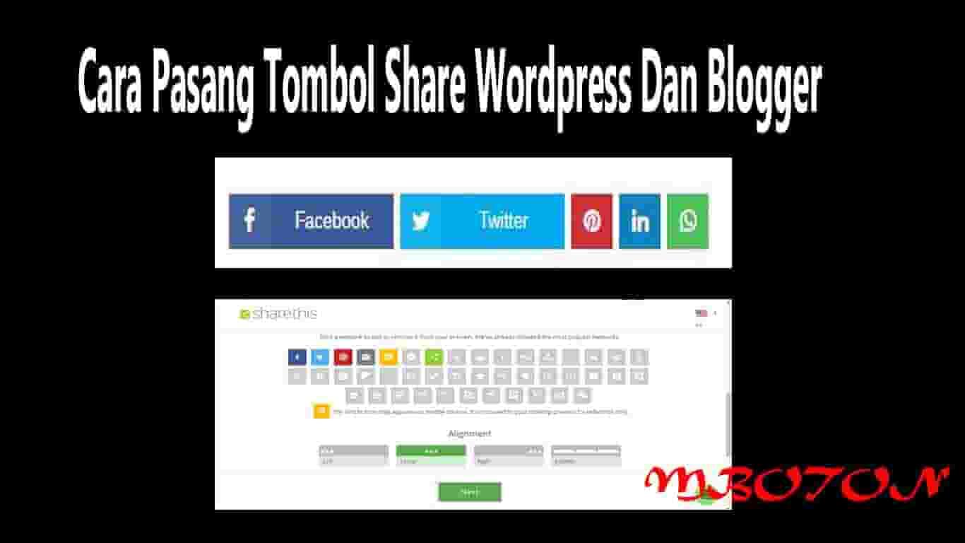 Cara Pasang Tombol Share Wordpress Dan Blogger