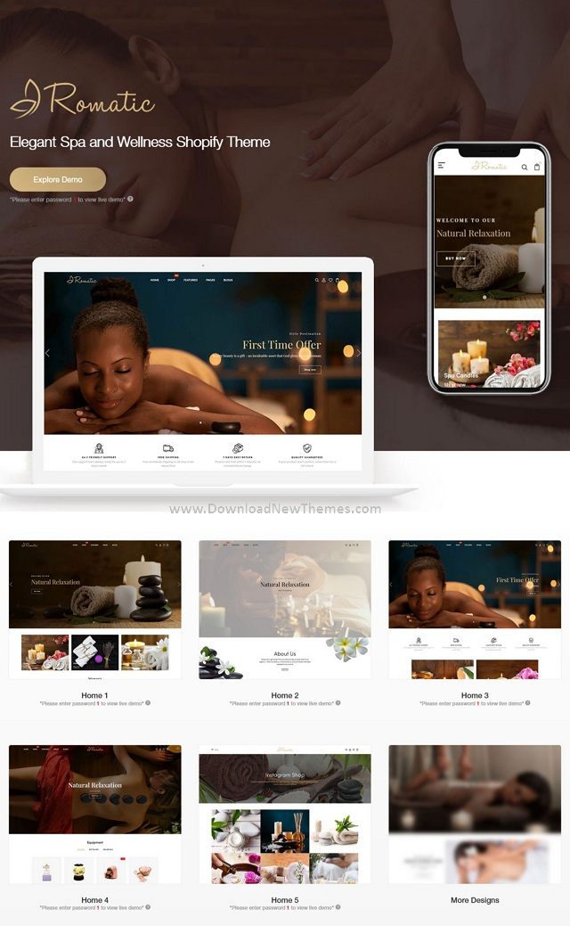 Elegant Spa & Wellness Shopify Theme