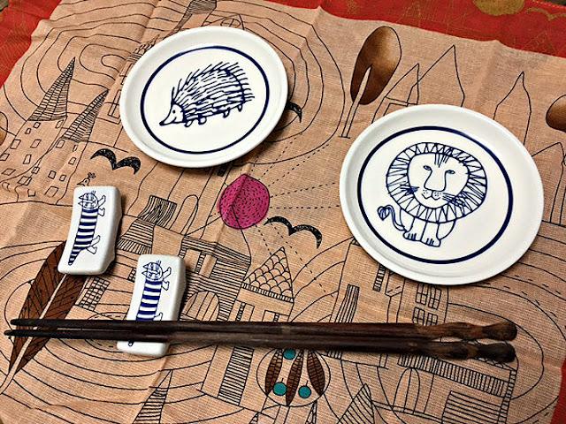 リサ・ラーソン豆皿と箸置き