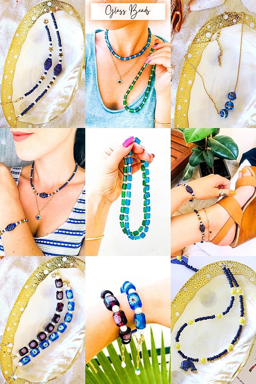 Fab & Happy handmade jewelry with colorful glass beads, beaded jewelry trends, nakit od stakla