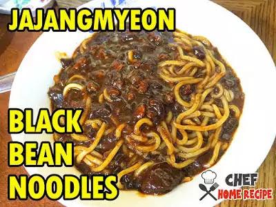 Black Bean Noodles Recipe (JAJANGMYEON) - chefhomerecipe.com