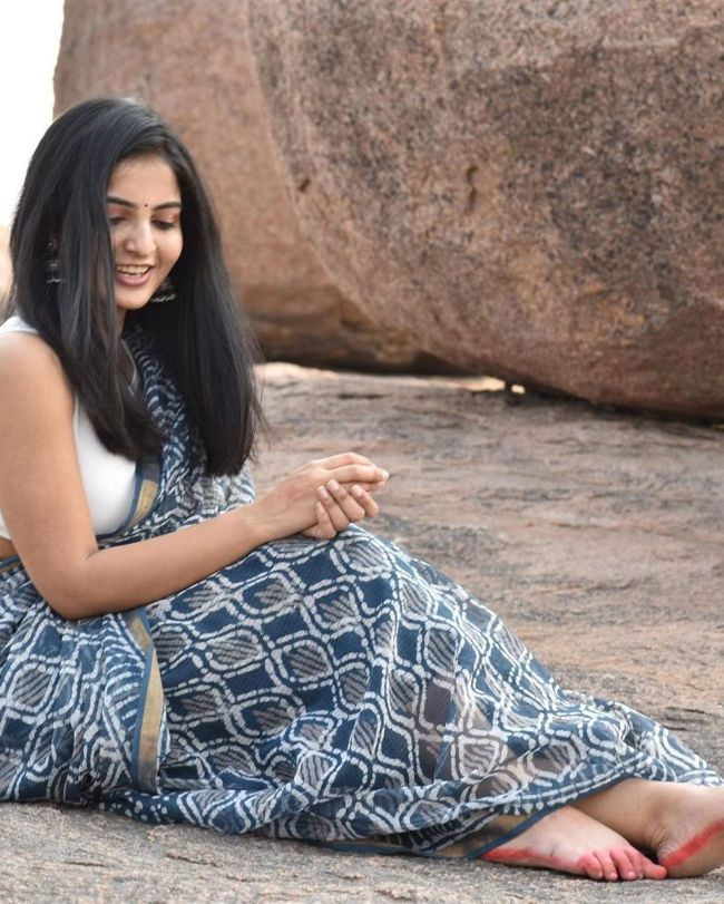 Actress Gallery: Ananya Nagalla Trendy Saree Looks Pics