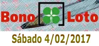 bonoloto sabado 4-02-2017