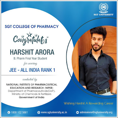 Harshit Arora - All India Topper