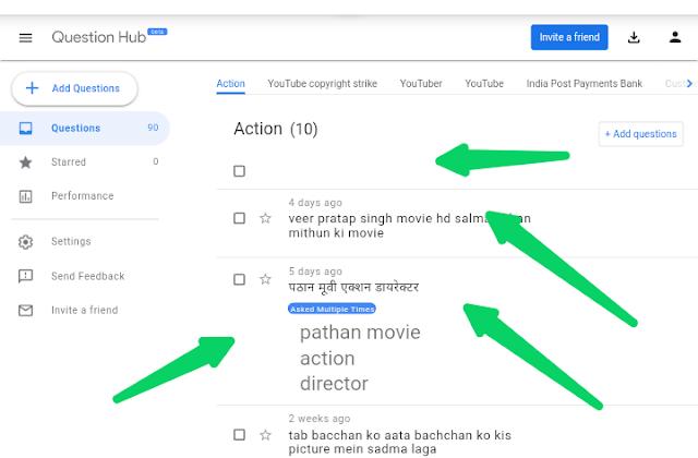 गूगल क्वेश्चन हब टूल्स इन हिंदी   Google Question Hub in hindi