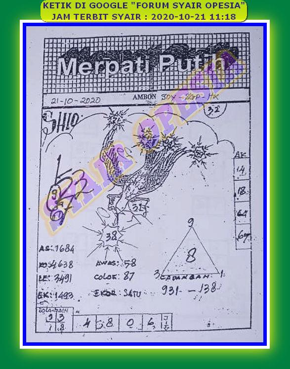 Kode syair Singapore Rabu 21 Oktober 2020 22
