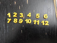 Print the numbers of the clock