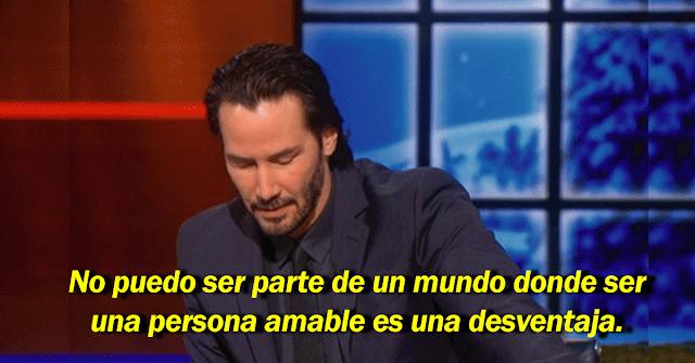 Keanu Reeves impactó a todo el mundo con un imperdible mensaje