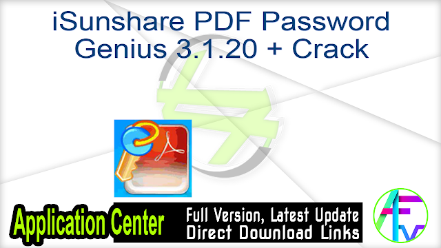 iSunshare PDF Password Genius 3.1.20 + Crack