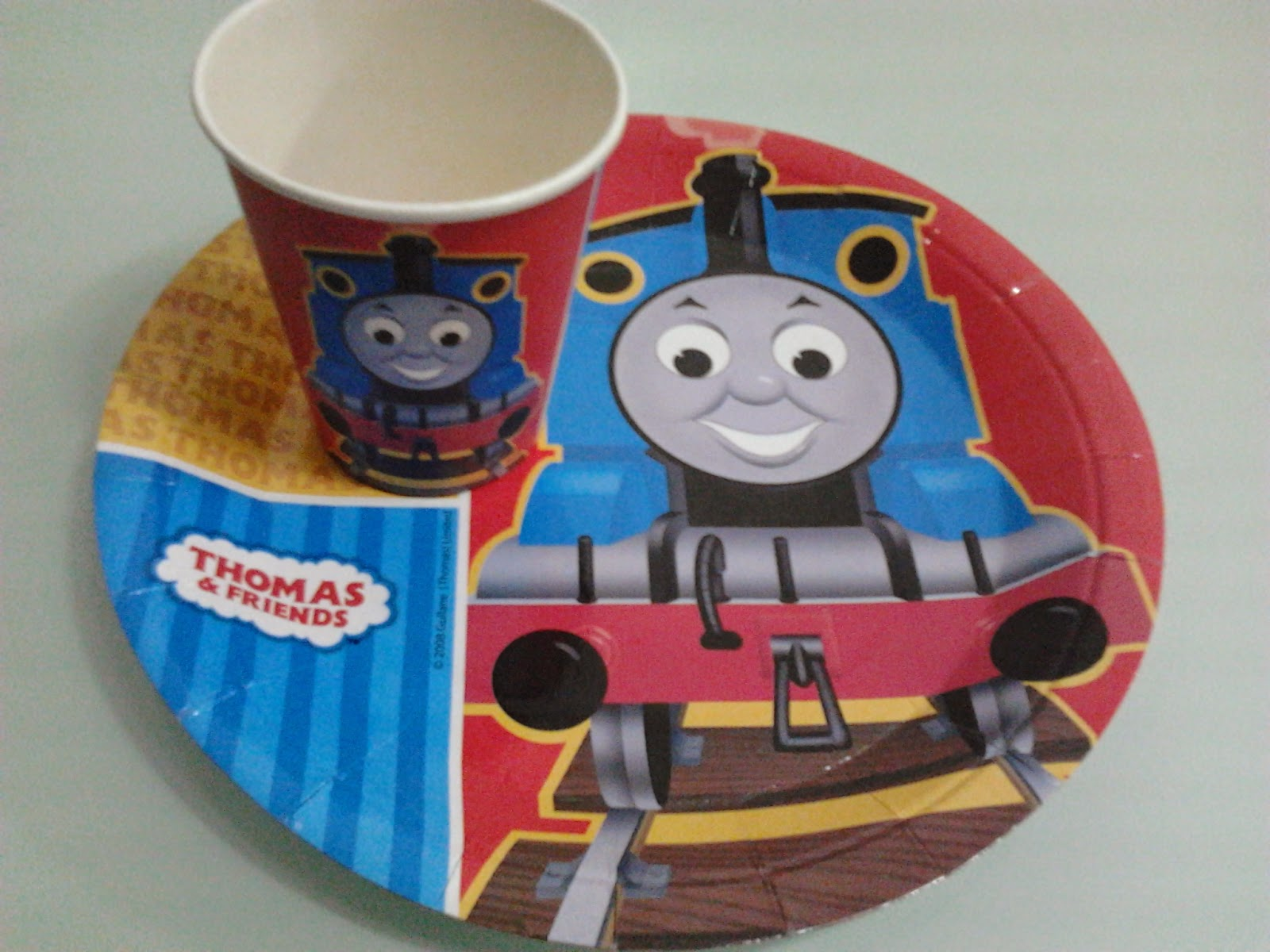 I was glad that we found Thomas the Tank Engine paper plates and cups too! Then I bought blue plastic cups for the adult guests. & Mommy Bares All: A Birthday Party Inspired by the Book Go Train Go ...