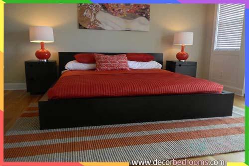 غرف نوم بالأحمر الياقوت للمتزوجين
