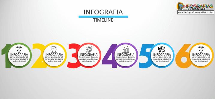 Plantilla timeline para infografías 08