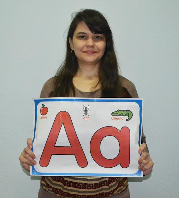 Big printable English alphabet letters for classroom