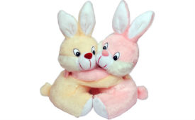 Tabby Cute & Sweet Bunny Couple Teddy 27cm For Rs 249 (Mrp 799) at Flipkart deal by rainingdeal.in