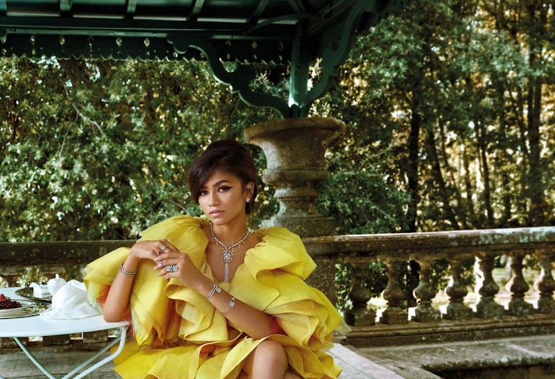 zendaya coleman Clicked for Bvlgari Forever Jewelry 2020 Collection