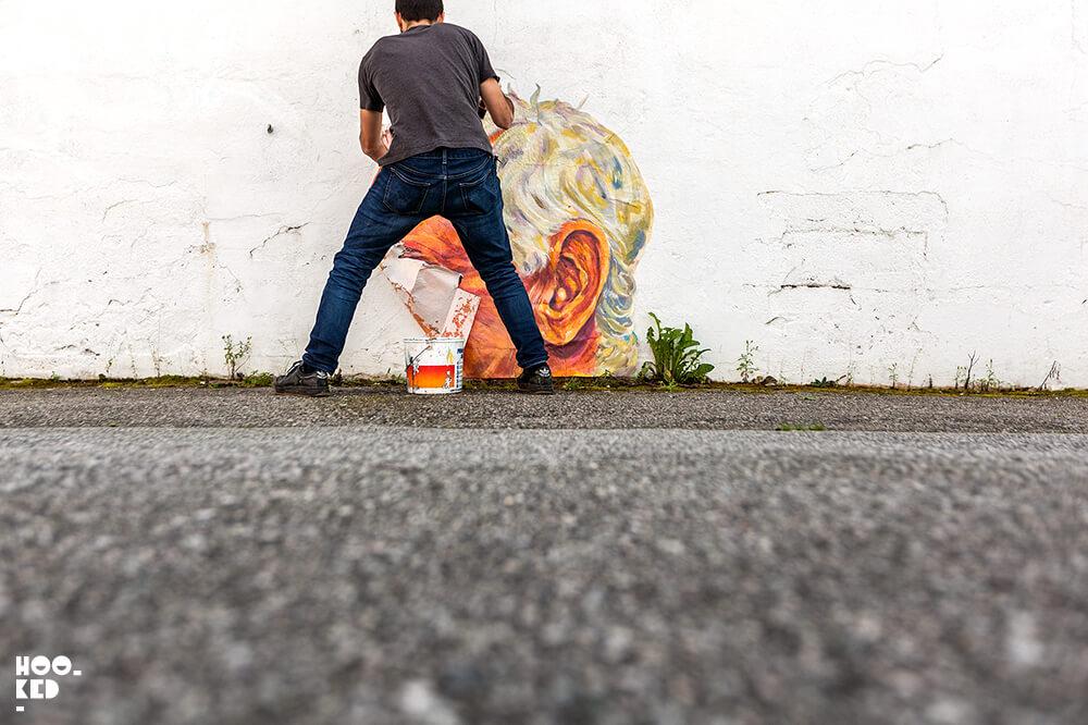 Artist NDA at work on the streets of Stavanger, Norway