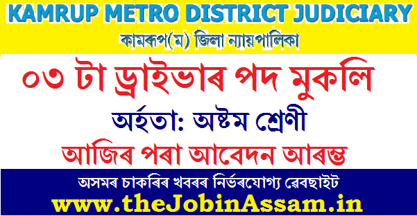 District & Sessions Judge, Kamrup (M) Recruitment 2020