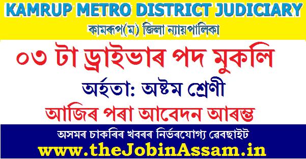 District & Sessions Judge, Kamrup (M) Recruitment 2020