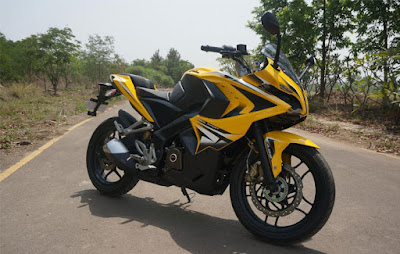 Bajaj Pulsar RS 200 Yellow Colour Image
