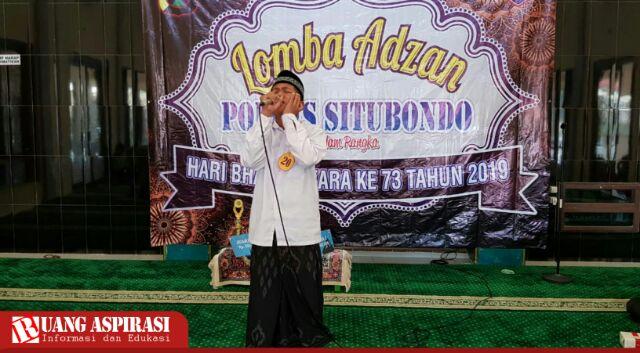 Tingkatkan Prestasi Anak, Polres Situbondo Gelar Lomba Adzan Menyambut Hari Bhayangkara ke-73