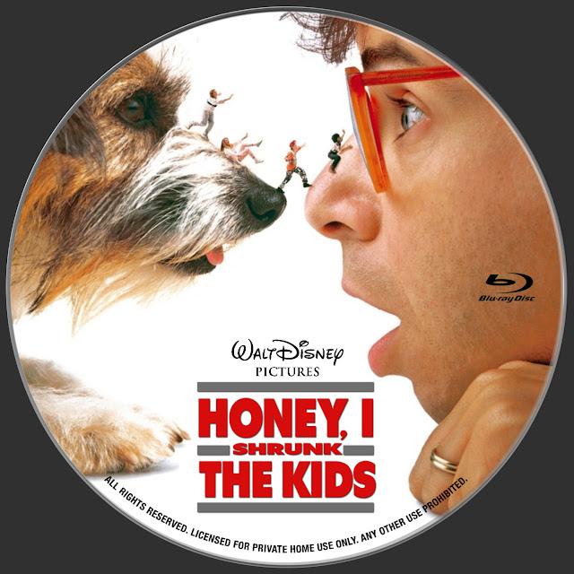 Honey, I Shrunk the Kids Bluray Label