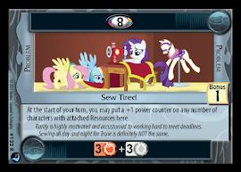 My Little Pony Sew Tired High Magic CCG Card