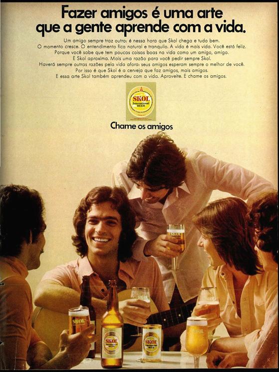 Propaganda antiga da Cerveja Skol apresentada em 1974