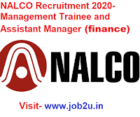 NALCO Recruitment 2020, Management Trainee, Assistant Manager