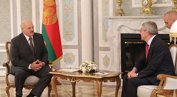 Thomas Bach Lukashenko belarus