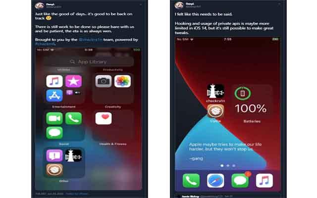 قريباً جلبريك Checkra1n لنظام  IOS14 لاجهزة ايفون و ايباد,جلبريك شيكران,جيلبريك,ابل,ايفون,ايباد,سيديا,جلبريك Checkra1n لنظام  IOS14,جيلبريك IOS14 CHECKRA1N,تجديث جلبريك checkra1n,jailbreak checkra1n cydia,jailbreak,cydia,iPhone,iPad,Apple