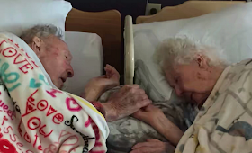 Loving Couple Hold Hands As Death Parts Them After 77 Years Of Marriage