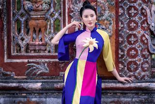 Mỹ nhân có mái tóc đẹp nhất HHVN 2016 đẹp dịu dàng với áo dài ở Huế