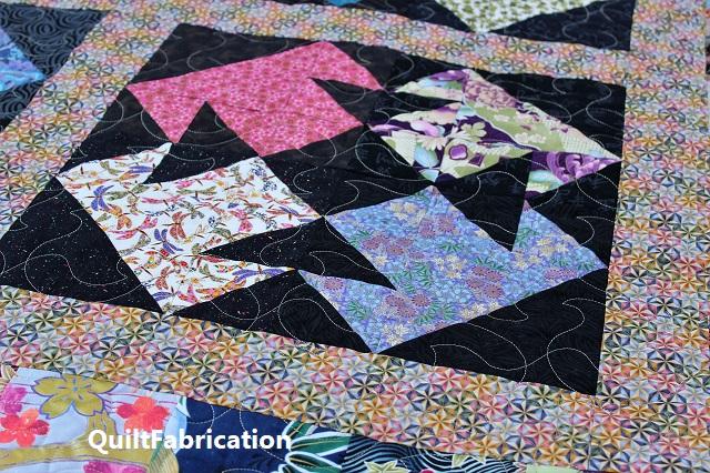 Kimono quilt paperchase pantograph quilting