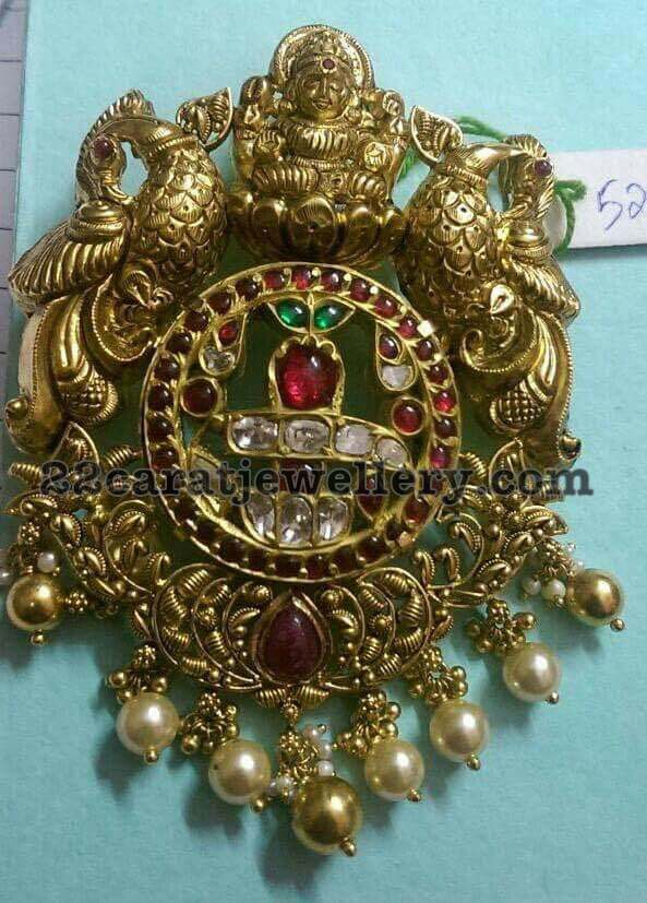 52 Grams Antique Lakshmi Pendant