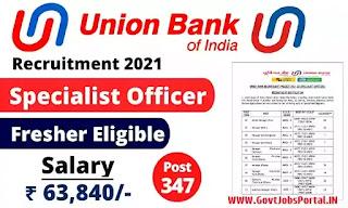 Union Bank of India Recruitment 2021 for Fresher Graduates