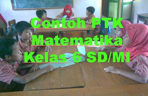Contoh PTK Matematika Kelas 6 Peningkatan  Kemampuan Menghitung Luas Segi Banyak Dengan Menggunakan Alat Peraga Bangun Datar Untuk Siswa Kelas VI  Sekolah Dasar/Madrasah