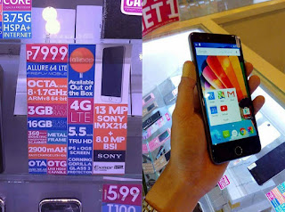 Firefly Mobile Allure 64 LTE, 64-bit Octa Core Android Lollipop with 3GB RAM and Fingerprint Scanner for Php7,999
